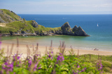 Three Cliffs Bay, Gower, Wales, United Kingdom, Europe Photographic Print by Billy Stock