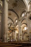 Interior of Cathedral, Puebla City, Puebla, Mexico, North America Fotografisk tryk af Ben Pipe