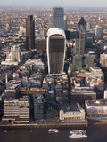 Aerial London Cityscape Dominated by Walkie Talkie Tower, London, England, United Kingdom, Europe Reproduction photographique par Charles Bowman