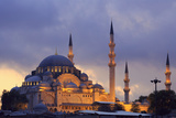 Suleymaniye Mosque, Eminonuand Bazaar District, Istanbul, Turkey, Europe Photographic Print by Richard Cummins