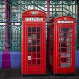 London Red Phone Boxes, Smithfield Market, London, England, United Kingdom, Europe Photographic Print by Mark Mawson