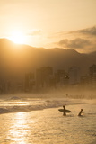 Ipanema Beach at Sunset, Rio De Janeiro, Brazil, South America Reproduction photographique par Ben Pipe
