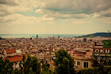 Barcelona Skyline Photographic Print by Marga Frontera