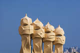 La Pedrera (Casa Mil ), Chimneys on the Roof Photographic Print by  Maremagnum