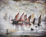 Sailing Boats, 1930 Giclee-trykk av Laurence Stephen Lowry