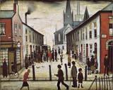 La Vanguardia de la fiebre Lámina giclée por Laurence Stephen Lowry