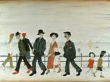 On The Promenade Giclee-trykk av Laurence Stephen Lowry