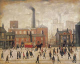 Coming Home From The Mill Giclee-trykk av Laurence Stephen Lowry