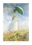 Woman With A Parasol Poster par Claude Monet