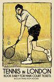 Tennis in London Giclee Print by  The Vintage Collection