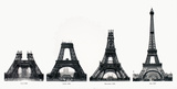 La Construction de la Tour Eiffel Impressão colecionável por Boyer Viollet