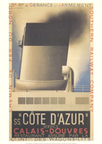 Cote d'Azur Collectable Print by Adolphe Mouron Cassandre