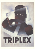 Triplex Collectable Print by Adolphe Mouron Cassandre