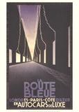 La Route Bleue Samlertryk af Adolphe Mouron Cassandre