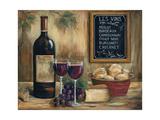 Les Vins Affiche par Marilyn Dunlap