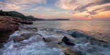 Morning Surf at Coast, Acadia National Park, Maine, USA Fotografie-Druck von  Panoramic Images