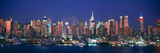 Skylines at Dusk, Manhattan, New York City, New York State, USA Photographic Print by  Panoramic Images