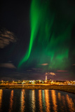 Aurora Borealis or Northern Lights, Reykjavik, Iceland Photographic Print