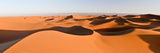 Sand Dunes in a Desert, Erg Chigaga, Sahara Desert, Morocco Fotografisk tryk af Panoramic Images,