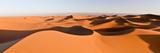 Sand Dunes in a Desert, Erg Chigaga, Sahara Desert, Morocco Fotografisk tryk