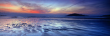 Seascape at Dusk, Bantham Beach, South Devon, Devon, England Fotografisk tryk af Panoramic Images,