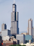 Buildings in a City, Willis Tower, Chicago, Cook County, Illinois, USA Photographic Print by Green Light Collection