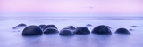 Boulders on the Beach at Sunrise, South Island, New Zealand Photographic Print