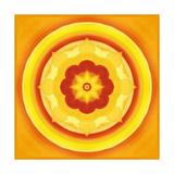 Yellow Blossom Mandala II Painted Plakater av Alaya Gadeh