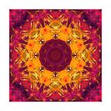 Warm Sun Mandala Ornament Prints by Alaya Gadeh