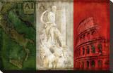 Brava Italia Stretched Canvas Print by Luke Wilson