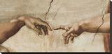 Skabelsen af Adam, ca. 1510 (detaljer) Opspændt lærredstryk af Michelangelo Buonarroti,