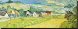 Vue Ensoleille pres d'Auvers Stretched Canvas Print by Vincent van Gogh
