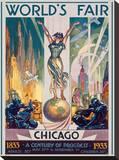 Chicago World's Fair, 1933 Stretched Canvas Print by Glen C. Sheffer