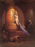 Egyptian Princess (cover art for Eerie 23 and Creepy 92) Kunstdrucke von Frank Frazetta