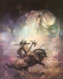 Apparition (cover art for Brak the Barbarian vs. the Sorceress) Lámina por Frank Frazetta