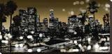 L.A. Nights I Opspændt lærredstryk af Kate Carrigan