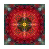 Energy Of The Heart Mandala Prints by Alaya Gadeh