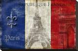 Republique Francaise Stretched Canvas Print by Luke Wilson
