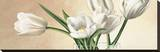 Vaso con Tulipani Bianchi Stretched Canvas Print by Eva Barberini