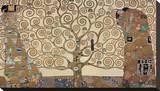 Livets tre Trykk på strukket lerret av Gustav Klimt