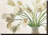 Bouquet di Tulipani Opspændt lærredstryk af Eva Barberini