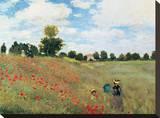 Coquelicots Sträckt kanvastryck av Claude Monet