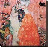 Le Amiche Reproducción de lámina sobre lienzo por Gustav Klimt