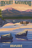 Mount Katahdin, Maine Pôsters por  Lantern Press