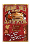 Waterville Valley Region, New Hampshire - Maple Syrup Sign Poster von  Lantern Press