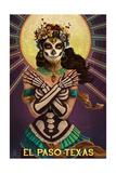 El Paso, Texas - Day of the Dead Crossbones Posters by  Lantern Press