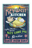 Bahia Honda, Florida Keys - Key Lime Pie Sign Poster von  Lantern Press