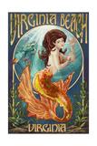 Virginia Beach, Virginia - Mermaid Affiches par  Lantern Press