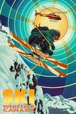 Heli-Skiing - Whistler, Canada Posters av  Lantern Press