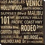 Los Angeles Stretched Canvas Print by Luke Wilson